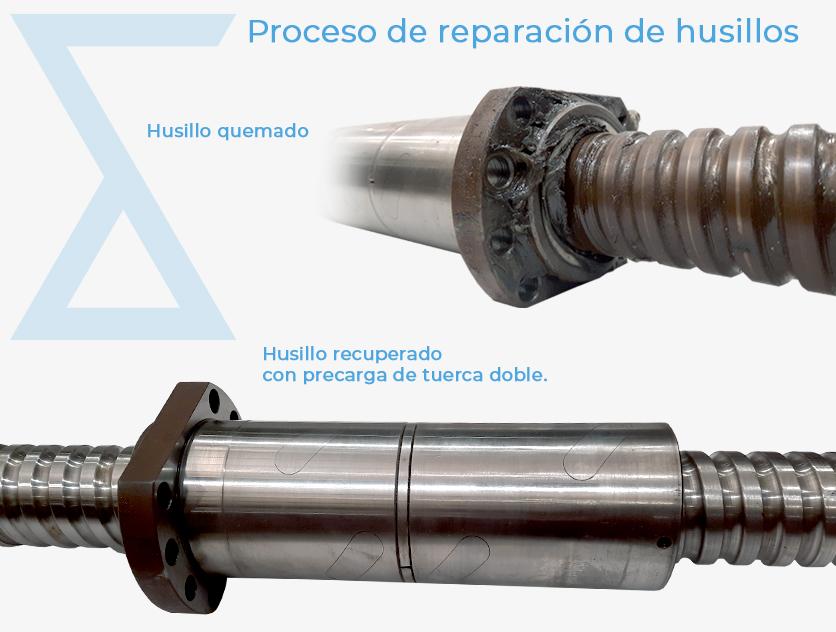 Reparación husillos de Daneel Mechatronics